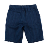 Denim Raw Edge Hem Shorts