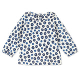 Petit Bateau Blue Floral Long Sleeve Top