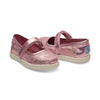 Pink Metallic Foil Tiny TOMS Mary Janes