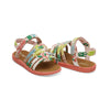 Pink Tropical Palms Tiny TOMS Sandals