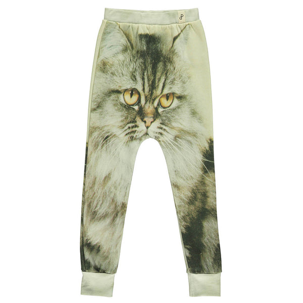 Cat Print Baggy Leggings