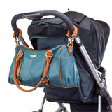 Madison 7-Piece Diaper Bag Set - Dark Teal/Saddle