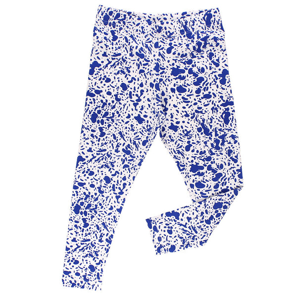 Enamel Pants - Off White/Blue