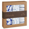 Indigo Silky Soft Bamboo Swaddle 3-Pack