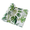 Tropical Leaf Cotton Muslin Swaddle