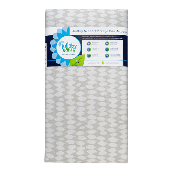 Lullaby Earth Healthy Support 2-Stage Crib Mattress Leaf