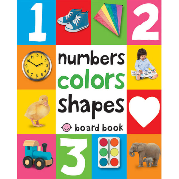 numbers, colors, shapes baby board book
