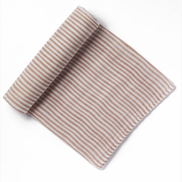 pehr designs muslin cotton pink striped swaddle blanket