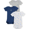 Boys Printed Bodysuits 3-Pack