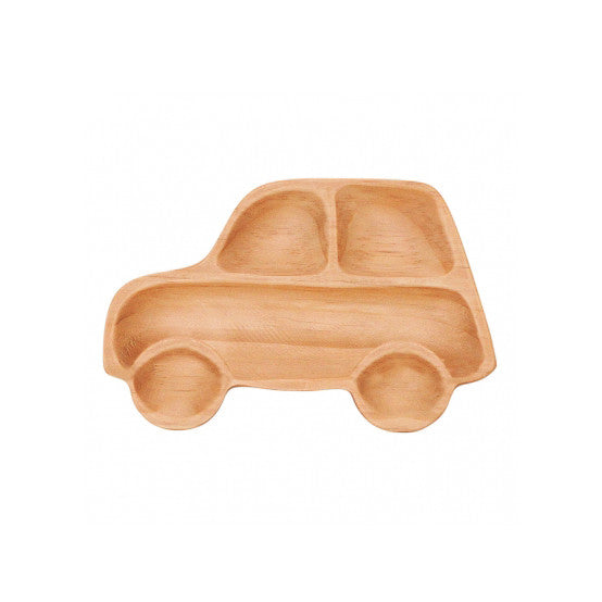 Petits et Maman Kids Small Wood Plate - Car Jr
