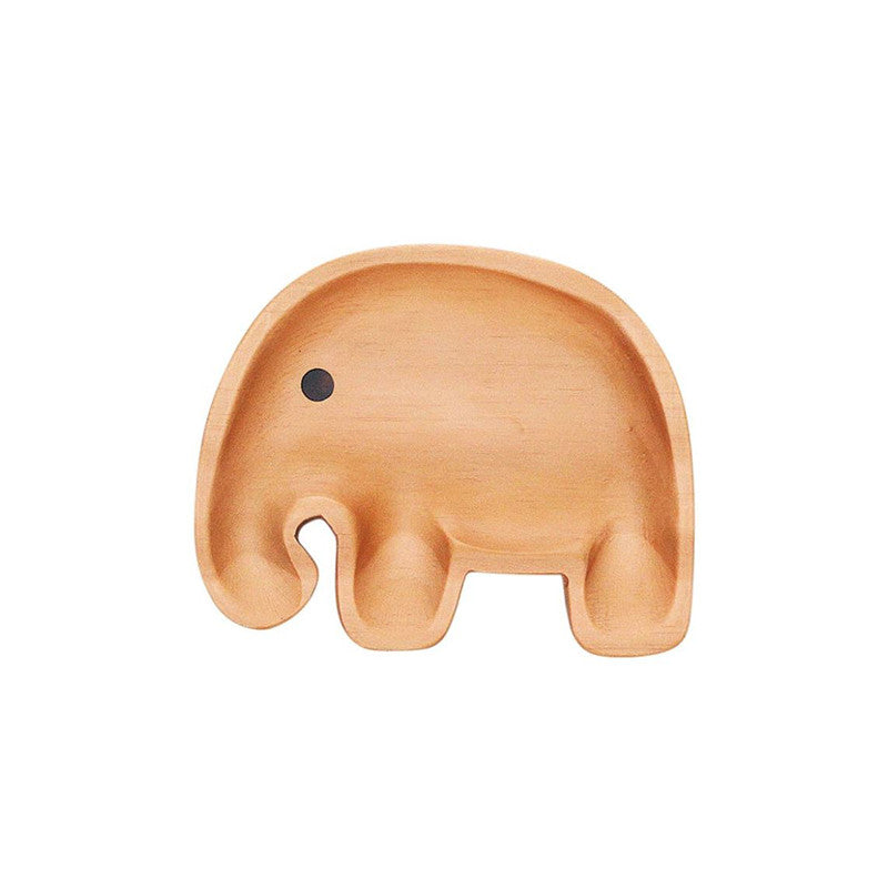 Petits et Maman Kids Small Wood Plate - Elephant Jr