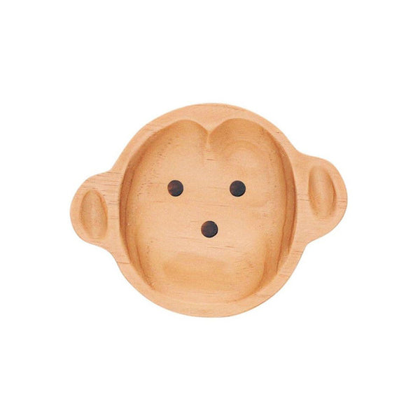 Petits et Maman Kids Small Wood Plate - Monkey Jr