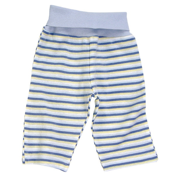 under the nile organic cotton blue stripe pants with rolled waist