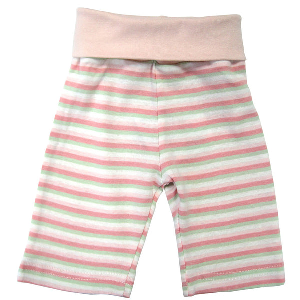 under the nile organic cotton pink striped rolled waist pant