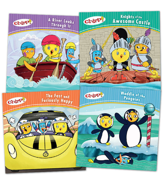 Chirp Adventure Book Bundle - Owlkids - Reading for kids and literacy resources for parents made fun. Books helping kids to learn.