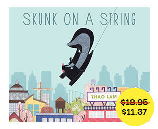 Skunk on a String // fall sale - Owlkids - Reading for kids and literacy resources for parents made fun. Books helping kids to learn.