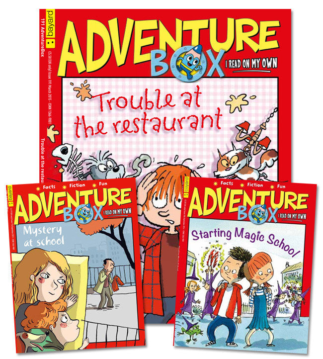 AdventureBox: ages 6 - 9 // Wagjag - Owlkids - Reading for kids and literacy resources for parents made fun. Magazines-MSG helping kids to learn.