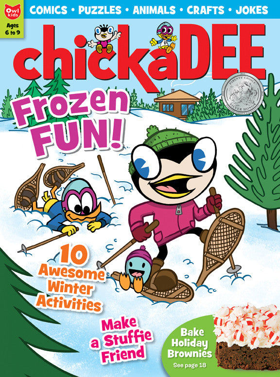 chickaDEE Magazine - December 2015 - Owlkids - Reading for kids and literacy resources for parents made fun. Books helping kids to learn.