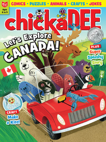 Chickadee Magazine: ages 6-9 // ON the GO