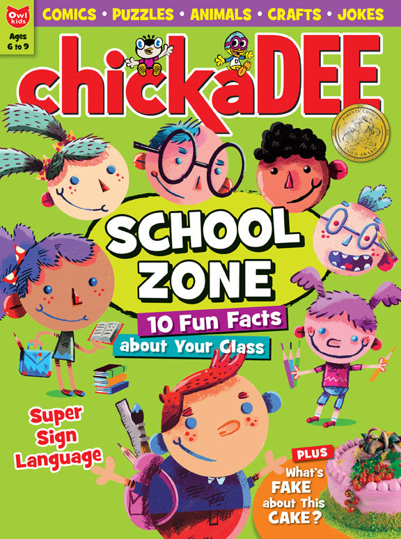 chickaDEE Magazine - September 2016 - Owlkids - Reading for kids and literacy resources for parents made fun. Books helping kids to learn.