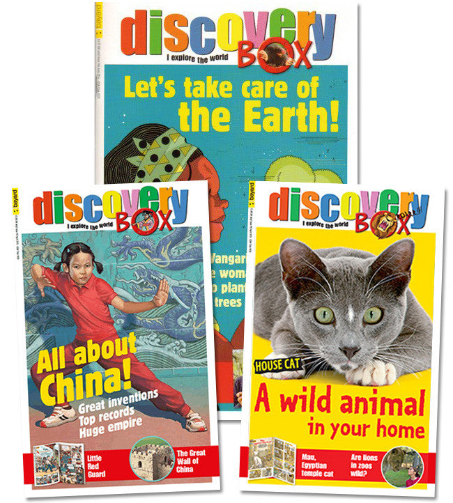 DiscoveryBox: ages 9 - 12 // FSI - Owlkids - Reading for kids and literacy resources for parents made fun. Magazines-MSG helping kids to learn.