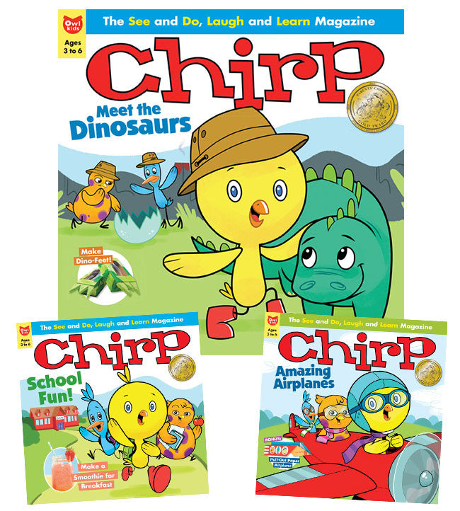 Chirp Magazine: ages 3-6 - Owlkids - Reading for kids and literacy resources for parents made fun. Magazines helping kids to learn. - 1