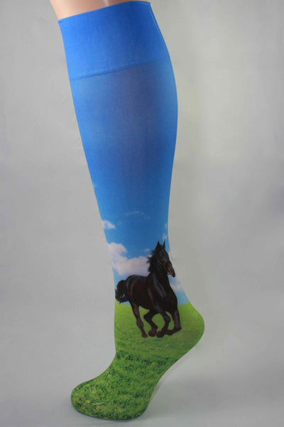 Black Meadow Horse Boot Sock