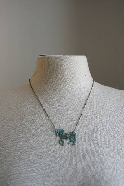 Horse Silhouette Necklace - Sale!