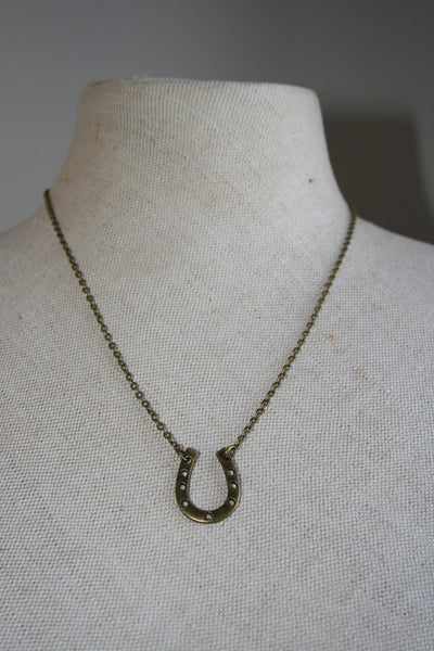Large Horse Shoe Necklace - Sale!