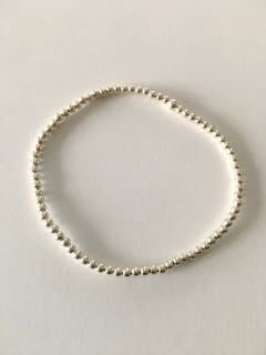 Sterling Bead Bracelet - Medium