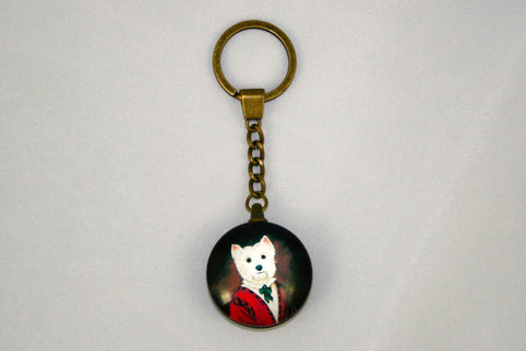 Lord Westie Key Ring