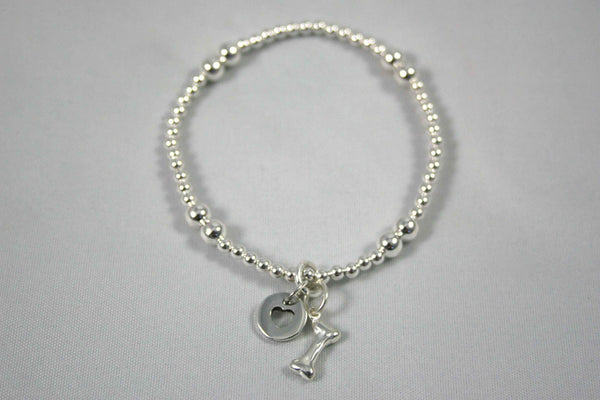 Heart & Bone Sterling Bracelet