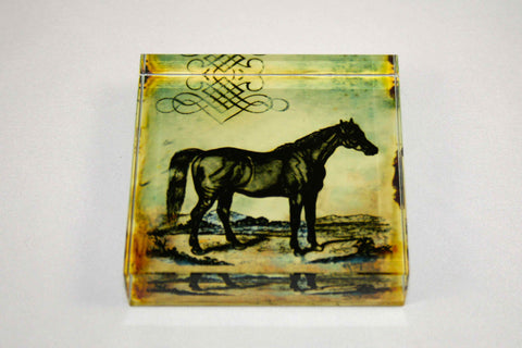Vintage Horse Paper Weight