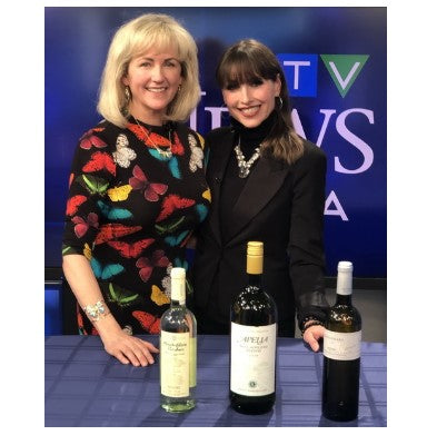 Natalie Maclean takes our wines on a little tour at CTV NEWS television in Ottawa