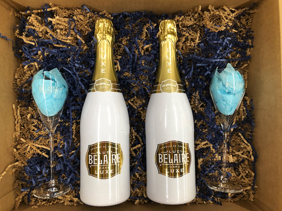 Belaire LUXE Gift Box with 2 free Champagne Flutes