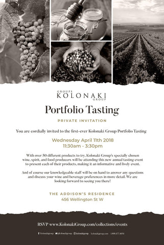 Kolonaki Group Portfolio Tasting TRADE Registration