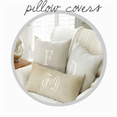 handmade monogrammed pillow covers