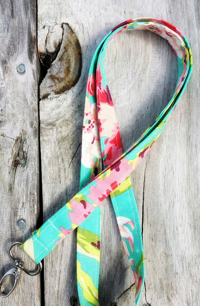 Lanyard in Hawaiian Flowers - Oh! Koey