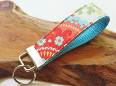 Wrist Key Chain - Key Fob Wristlet Keychain - Fabric Fob - Fruity Pop