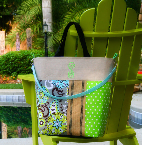 Mystic Night Monogrammed Beach Tote|Personalized Diaper Bag|Tennis Tote - Oh! Koey