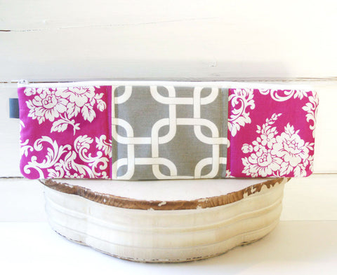 Chains and Pink Damask Charger Cord Cubbies - Oh! Koey