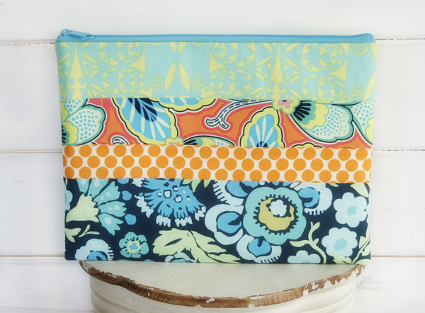Patchwork Party Baby Blue Macbook or Laptop Sleeve - Oh! Koey