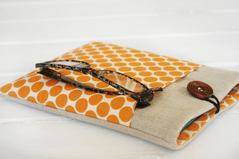 Orange Polky iPad & Tablet Case, Kindle & Ereader Case, or Macbook & Laptop Case - Oh! Koey