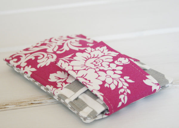 Phone Sleeve MADE TO FIT ANY BRAND~in Chains and Pink Damask - Oh! Koey