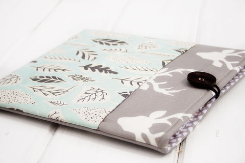 SAMPLE SALE Oh Deer Grey and Green iPad, Tablet Case - Oh! Koey