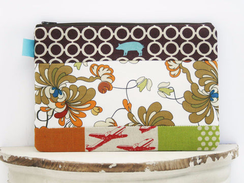 Mixed Message Cosmetic Bag | Zipper Top Pouch | Diaper Clutch | Everyday Clutch - Oh! Koey