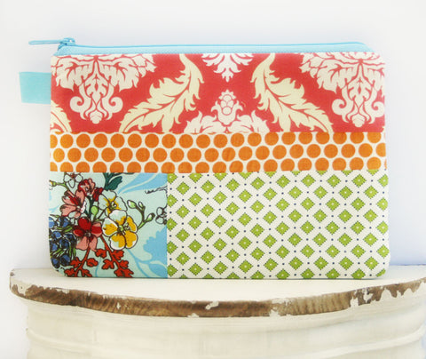 Pretty Party Cosmetic Bag | Zipper Top Pouch | Diaper Clutch | Everyday Clutch - Oh! Koey