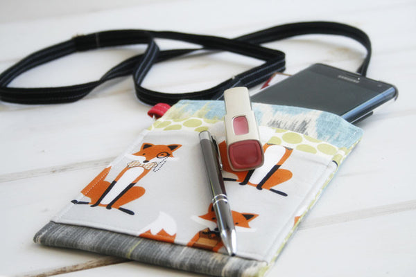It's Everything! Little Fox Cell Phone Sleeve with Adjustable Strap~FIT ANY SIZE Mobile Phone - Oh! Koey