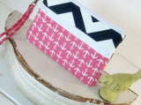 Cell phone wallet purse wristlet