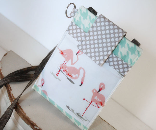 It's Everything!  Flamingo Cell Phone Sleeve with Adjustable Strap~FIT ANY SIZE Mobile Phone - Oh! Koey